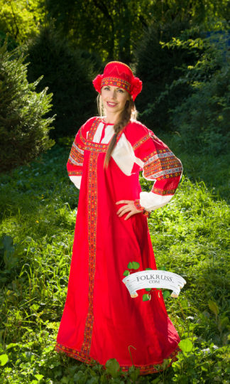 Woman folk dress