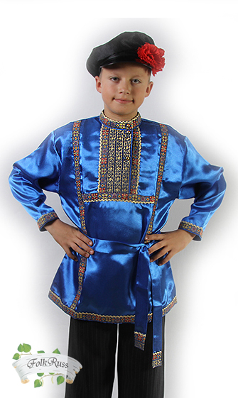 996599f7190e Russian traditional slavic silk shirt Kosovorotka – Folk Russian clothing  store