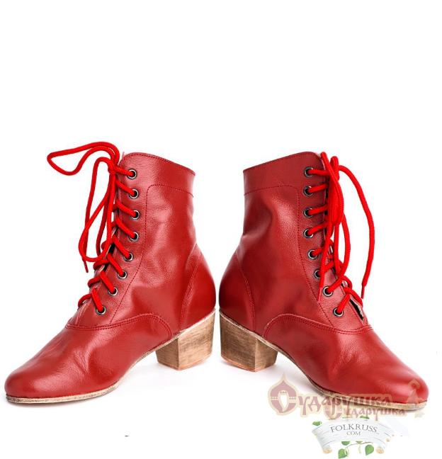Russian Dance Shoes Kadrille Cossack Woman Boots Folk
