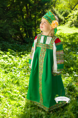 russian dress green