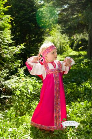 russian pink dress