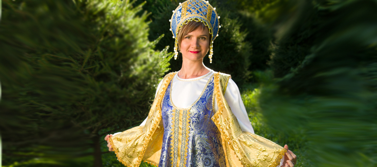 "Russian scenic dress ""Sudarynia"""
