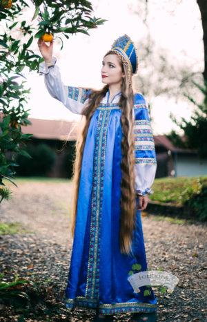 russian silk dress