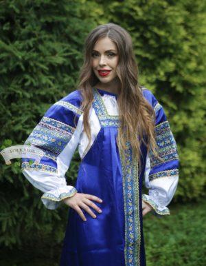 Silk russian dress