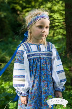 folk dress mashenka for girls