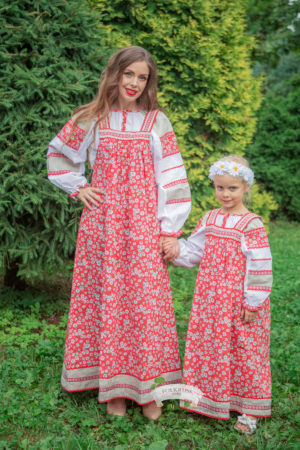 Folk russian costume Mashenka for women's