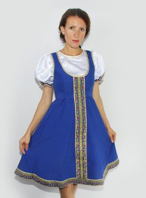 Woman dance dress, Sarafan, Folk scenic