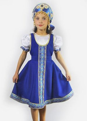 Girl's dance dress, Sarafan, Folk scenic