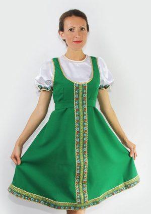 Woman dance dress, Sarafan, Folk scenic