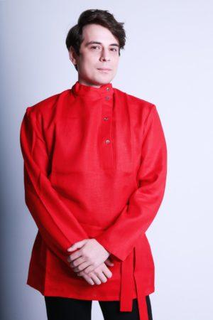 Russian folk linen shirt Kosovorotka
