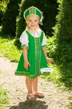 Girl's dance dress, Sarafan, Folk scenic